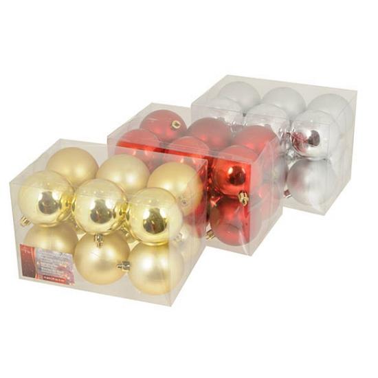 Box met kerstballen 6 cm 12 stuks