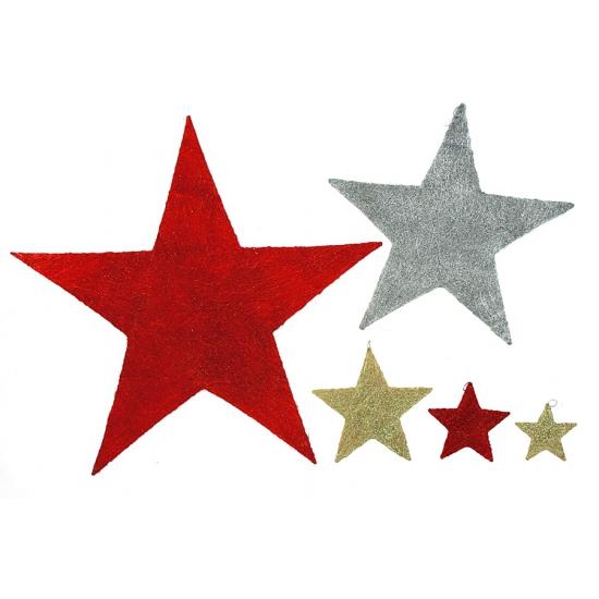 Decoratie glitter ster 30 cm