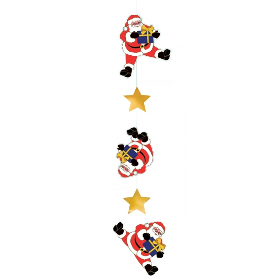 Decoratie hanger kerstman 150 cm