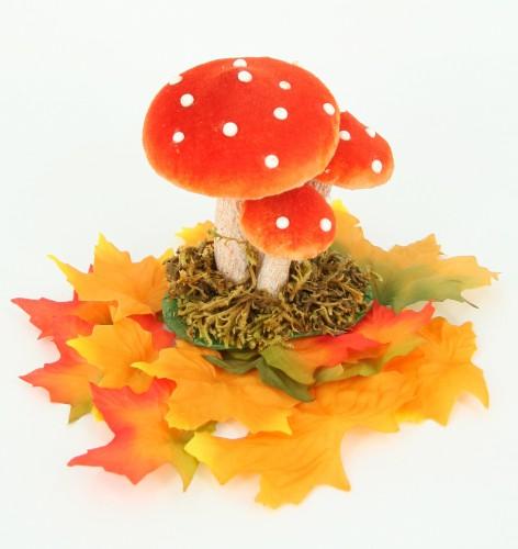 Decoratie paddenstoelen 10 cm