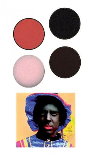 Driedelige schmink set Zwarte Piet
