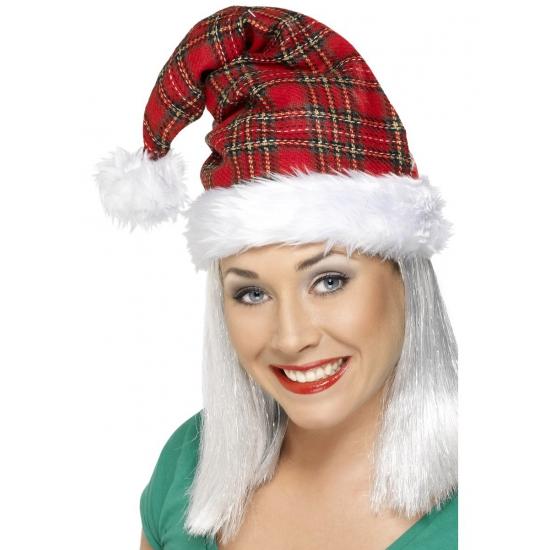 Geruite kerstmuts