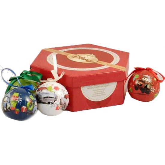 Giftbox met Cars kerstballen