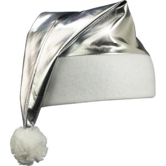 Glimmende kerstmutsen zilver