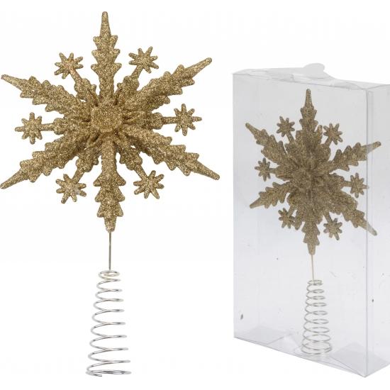 Glitter piek goud sneeuwvlok