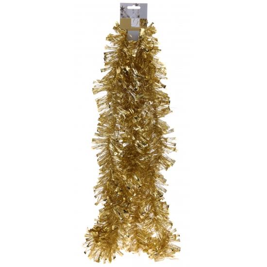 Gouden folie slinger voor kerst 270 cm