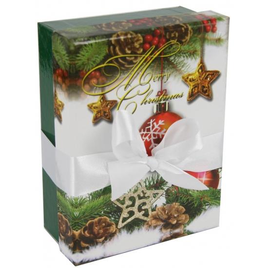 Groen kerst decoratie kadootje 16 cm