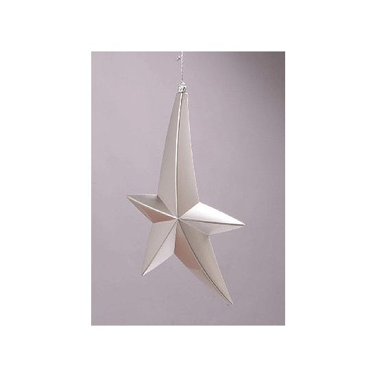 Hangdecoratie hangende ster zilver