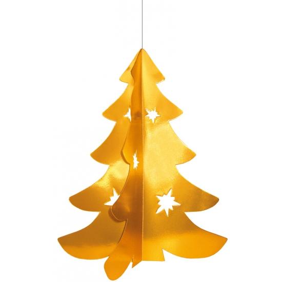 Hangdecoratie kerstboom goud 50 cm