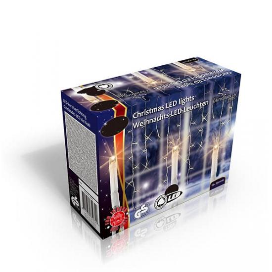 Ijspegel verlichting warm wit 160 lampjes