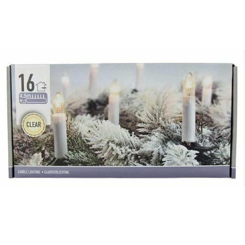 Kaarsen verlichting helder 16 lampjes