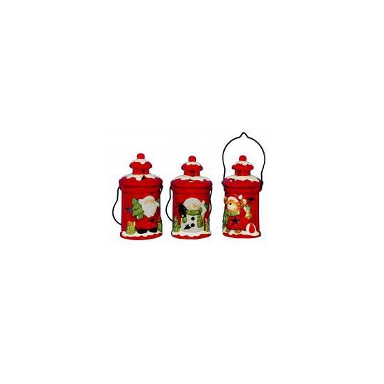 Kerst decoratie kerstman lantaarn