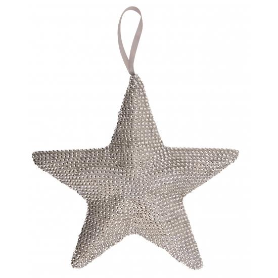 Kerst decoratie ster grijs 32 cm