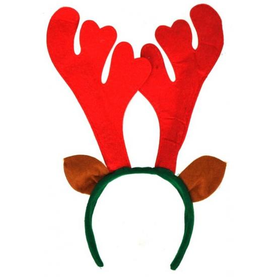 Kerst haarband met rood gewei