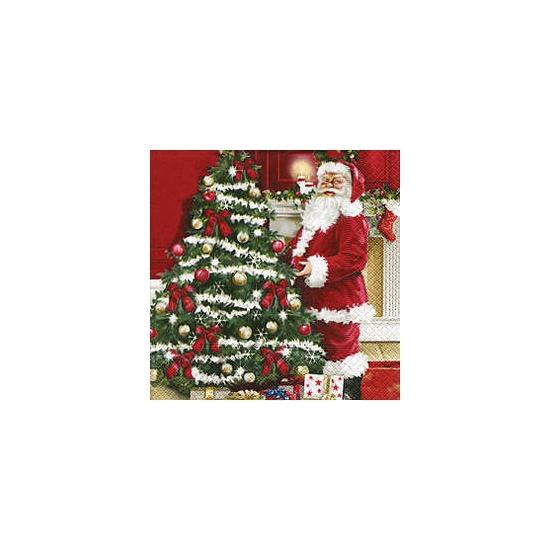 Kerst servetten Kerstman 20 stuks