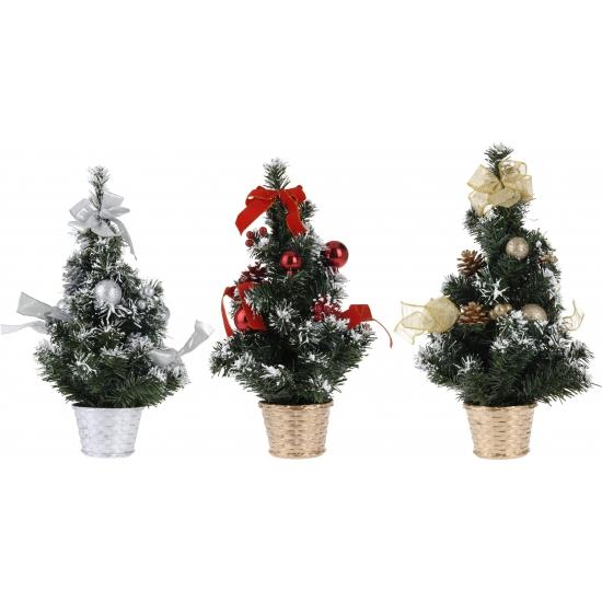 Kerstboom met decoratie goud 40 cm