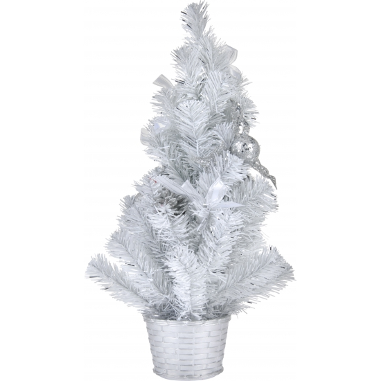 Kerstboom wit met decoratie 50 cm