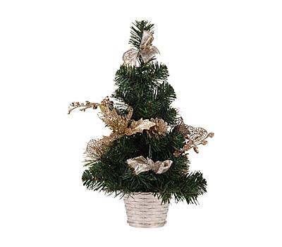 Kunst kerstboom 40 cm gouden versiering