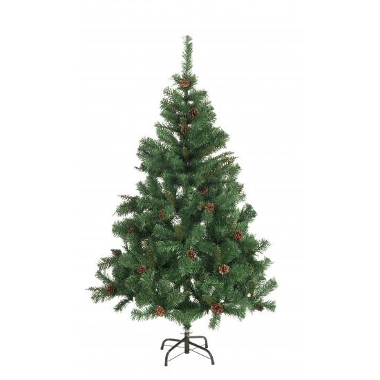 Kunst kerstboom met dennenappels