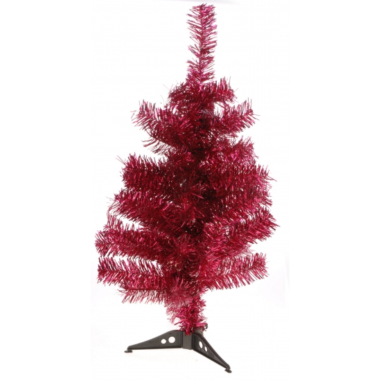 Kunstkerstboom rood 60 cm