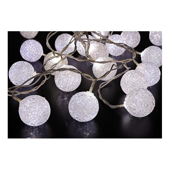 Led verlichting sneeuwbal wit 20 stuks