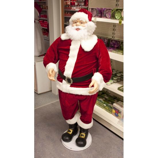 Luxe Kerstman pop 150 cm