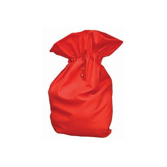 Rode fleece kerst kado zak