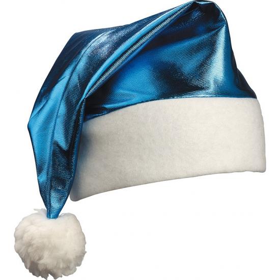 Shiny kerstmuts kobalt blauw