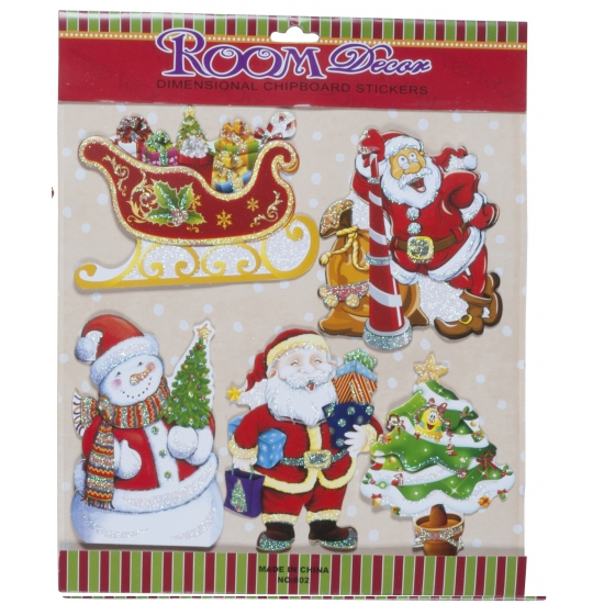 Stickervel met kerst thema stickers type 1
