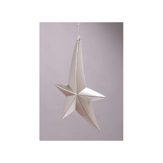 Vallende ster decoratie zilver 30 cm