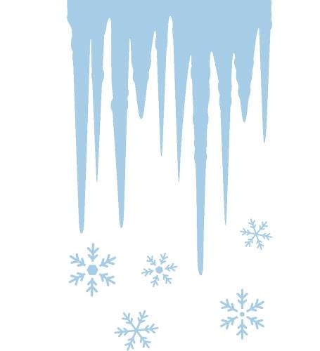 Winterdecoratie ijs sjablonen