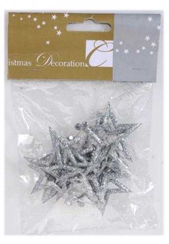 Zilveren kerstboom sterren open