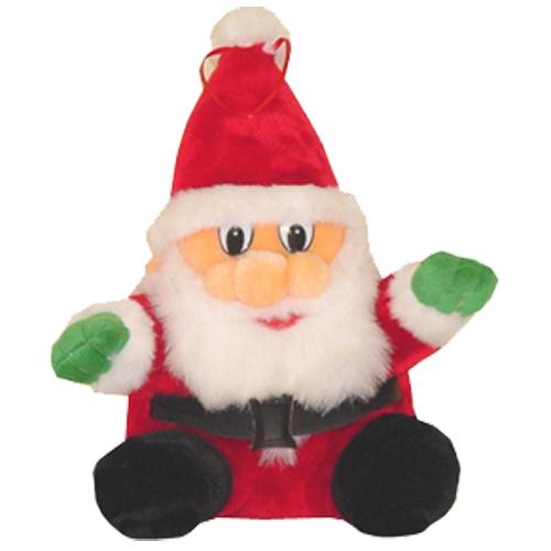 Zittende kerstman knuffel 27 cm