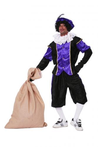 Zwarten pieten pak paars