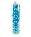 40 turquoise kerstballen van plastic