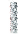 40 zilveren kerstballen van plastic
