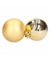 6 gouden kerstballen glanzend en mat