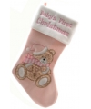 Baby kerstsok roze 45 cm