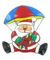 Bord kerstman aan parachute