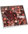Bordeaux kerstboomversiering 45 delig