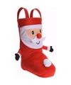 Cadeauzak schoen 3d kerstman