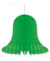 Decoratie kerst klokken groen 20 cm
