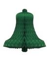 Decoratie kerstklok groen 36 cm