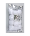 Decoratie sneeuwballen 5 cm 24 stuks