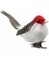 Decoratie vogels rood 3 stuks