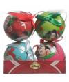 Disney kerstballen setje 4 stuks