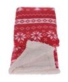 Fleece deken winterse print rood