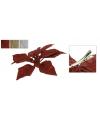 Glitter clip met kerstster 14 cm