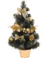 Gouden kerstboom met decoratie 50 cm