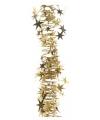 Gouden spiraal slinger met sterren